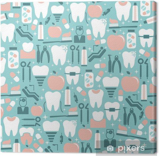 Obraz na płótnie Opieka stomatologiczna grafiki na niebieskim tle - Styl życia