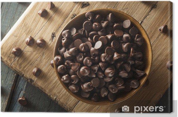 Obraz na płótnie Organiczne ciemne czekoladę - Słodycze i desery