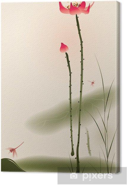 Obraz na płótnie Oriental malarstwo styl, wysoki Lotus - Style