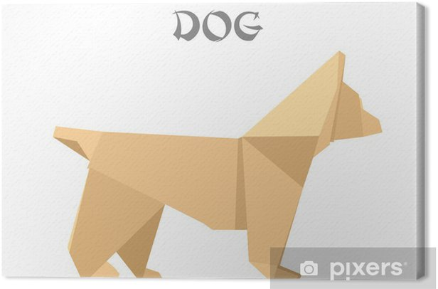 Obraz na płótnie Origami dog - Ezoteryka