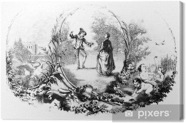 Obraz na płótnie Ornament: Wiosenne - 18th century - Pary