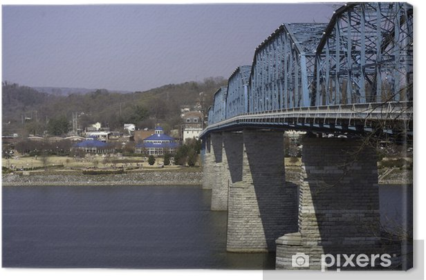Obraz na płótnie Orzech i most ulica parku Coolidge - Woda