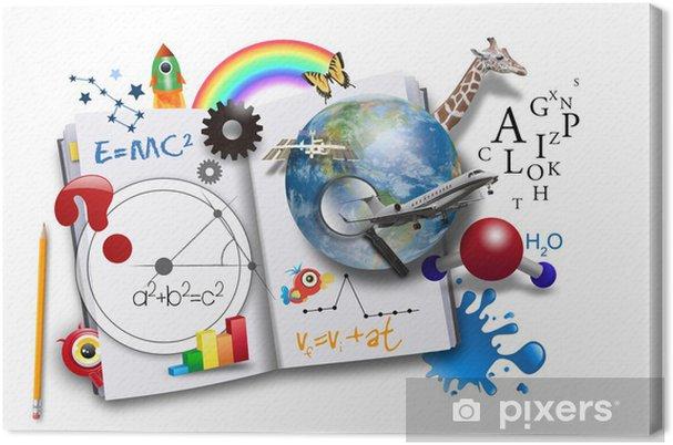 Obraz na płótnie Otwarta Nauka Book z nauki i matematyki - Styl życia