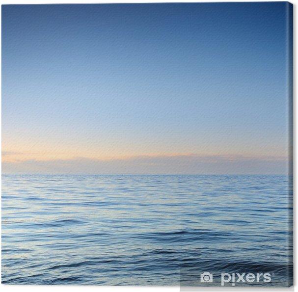 Obraz na płótnie Otwarte morze Bałtyckie na zachód słońca - Woda