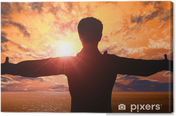 Obraz na płótnie Otwarte ramiona - Mężczyźni
