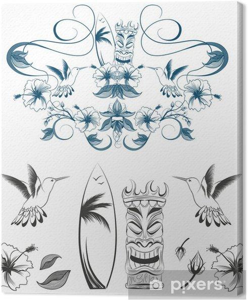 Obraz na płótnie Outline Hawaii ilustracji wektorowych - Wakacje