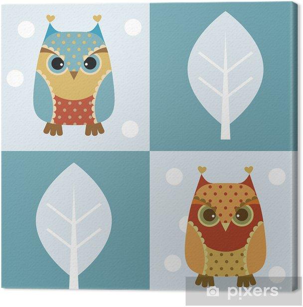 Obraz na płótnie Owl bezszwowe tło - Tematy