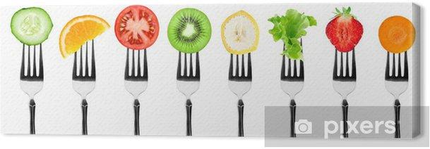 Obraz na płótnie Owoce i warzywa - Naklejki na ścianę