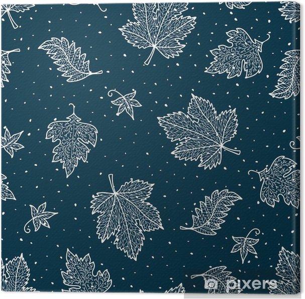 Obraz na płótnie Ozdobne liście mrożone - Zasoby graficzne