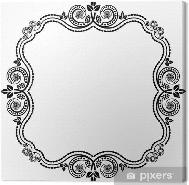 Obraz na płótnie Ozdobne ramki - Znaki i symbole
