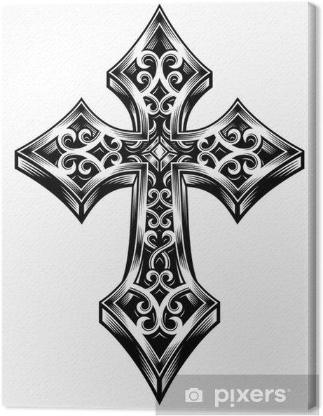 Obraz na płótnie Ozdobny Celtic Cross - Sztuka i twórczość