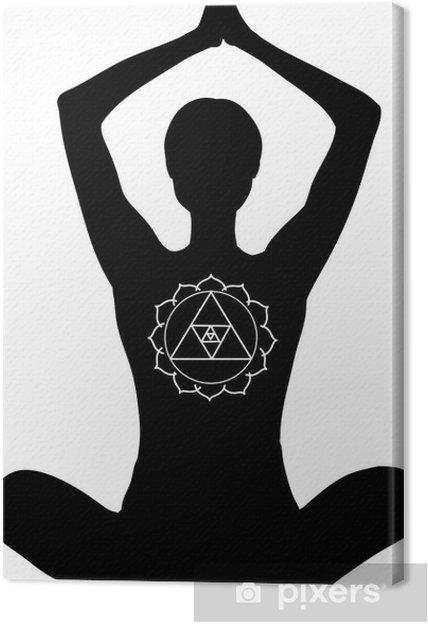 Obraz na płótnie Padmasana. Pozycji lotosu jogi z rękami do góry. - Naklejki na ścianę