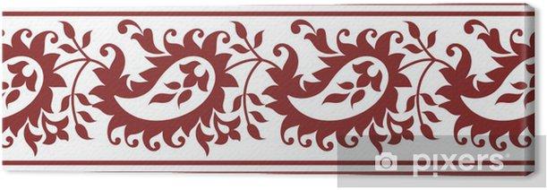 Obraz na płótnie Paisley kwiatowy granicy - Style