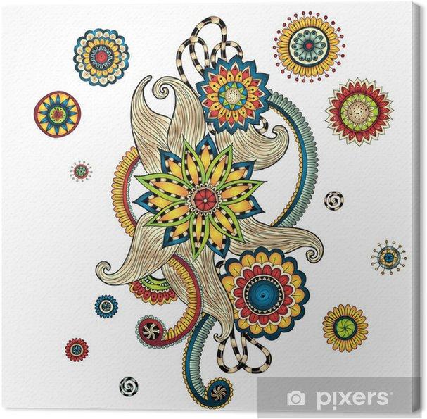 Obraz na płótnie Paisley Mehndi Doodles henny element projektu. - Style