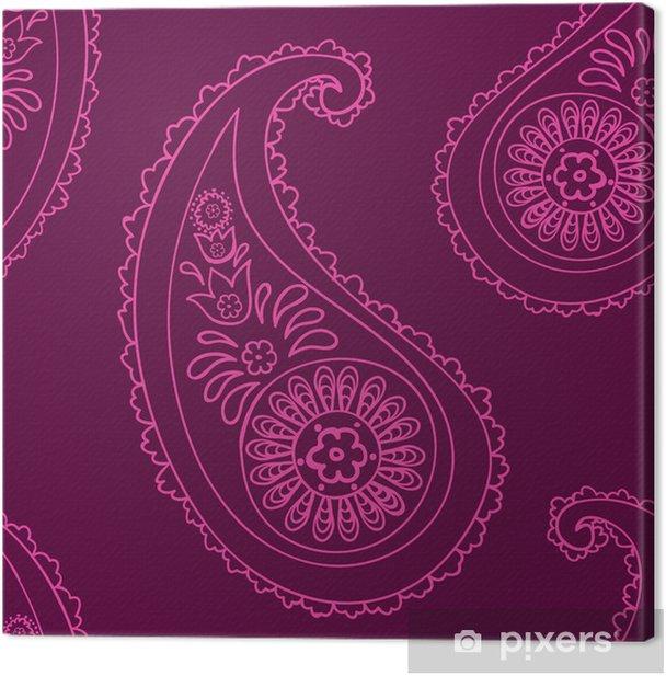 Obraz na płótnie Paisley powtarzalny tła - Kwiaty