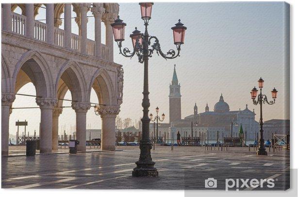 Obraz na płótnie Pałac Dożów i Placu Świętego Marka w godzinach porannych - Wenecja - Miasta europejskie