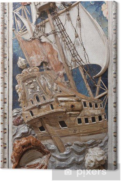 Obraz na płótnie Palermo - barokowa płaskorzeźba sceny z proroka Jonasza - Europa