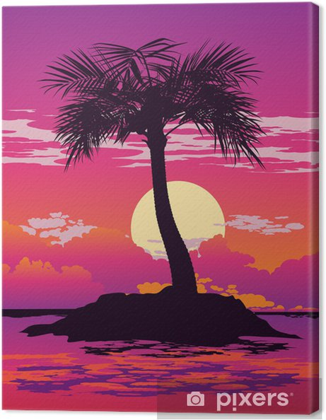 Obraz na płótnie Palma2 - Wyspy
