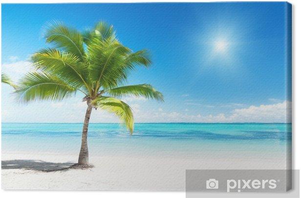 Obraz na płótnie Palmy i morze - Palmy