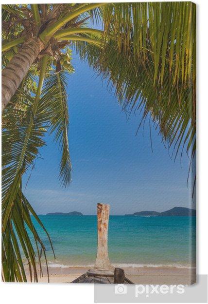 Obraz na płótnie Palmy na plaży Bangtao. Tajlandia. - Wyspy