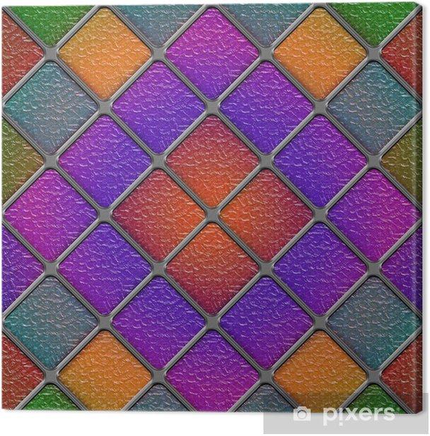 Obraz na płótnie Panel bez szwu przekątnej barwione szkło - Tekstury