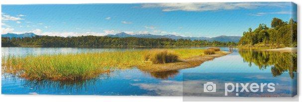Obraz na płótnie Panorama jeziora - Pory roku