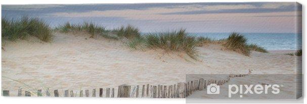 Obraz na płótnie Panorama krajobraz systemu wydmy na plaży o wschodzie słońca - Tematy
