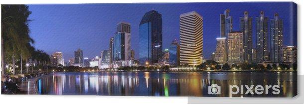 Obraz na płótnie Panorama miasta Bangkok w nocy Bangkok, Tajlandia - Azja