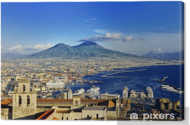 Obraz na płótnie Panorama Neapolu i Wezuwiusza - iStaging