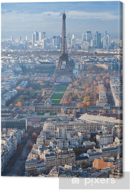 Obraz na płótnie Panorama Paryża w zimowe popołudnie - Tematy
