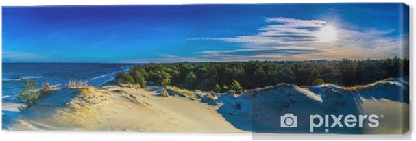 Obraz na płótnie Panorama pejzaż morski - Krajobrazy