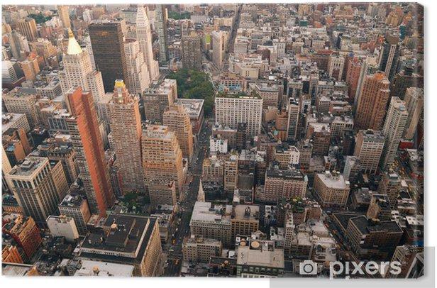 Obraz na płótnie Panoramę Nowego Jorku z lotu ptaka ulica - Ameryka