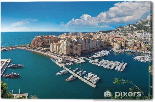 Obraz na płótnie Panoramiczny widok portu w Monte Carlo - Europa