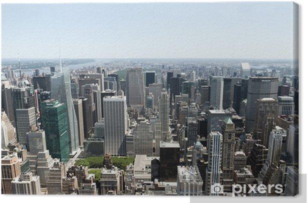 Obraz na płótnie Panoramiczny widok z Manhattanu - Miasta amerykańskie