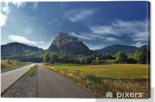Obraz na płótnie Panoramiczny widok z zamku Hochosterwitz Austrii - Krajobraz wiejski