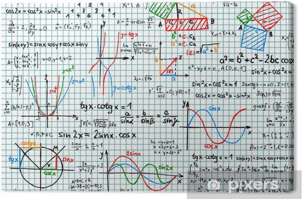 Obraz na płótnie Papier z matematyki szkice - ilustracji wektorowych - Edukacja