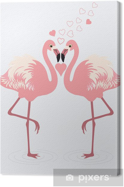 Obraz na płótnie Para flamingów - Święta międzynarodowe