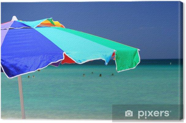 Obraz na płótnie Parasol - Wakacje