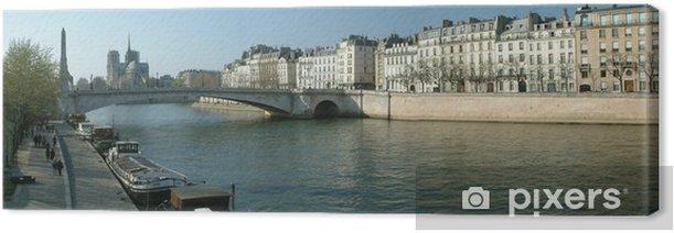 Obraz na płótnie Paris Notre Dame et les quais Sur Seine - Miasta europejskie
