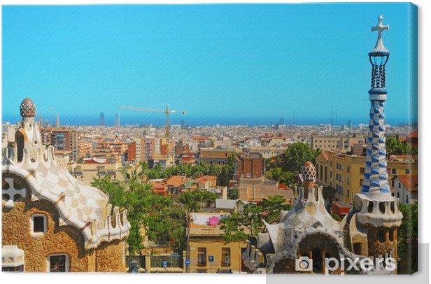 Obraz na płótnie Park Guell Barcelona Hiszpania - Miasta europejskie