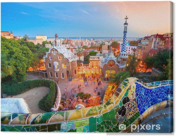 Obraz na płótnie Park Guell w Barcelonie, Hiszpania. - Tematy