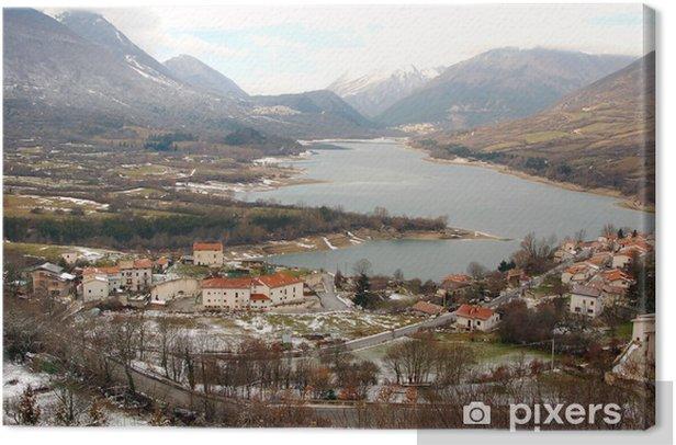 Obraz na płótnie Park Narodowy Abruzzo, Lake Barrea, Włochy - Pory roku
