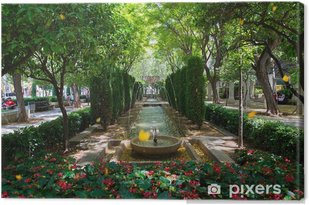 Obraz na płótnie Park z fontanną - Europa
