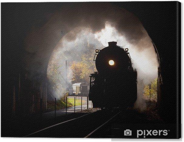 Obraz na płótnie Parowóz przechodzi tunel - Tematy