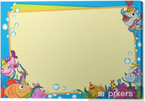 Obraz na płótnie Party Zaproszenie Fish - Zwierzęta żyjące pod wodą