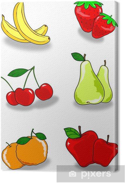 Obraz na płótnie Pary owoców - Owoce
