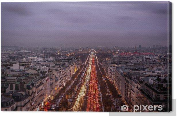 Obraz na płótnie Paryz noca - Miasta europejskie
