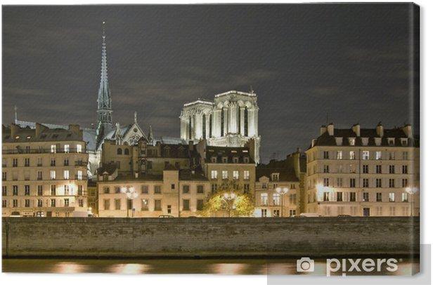 Obraz na płótnie Paryż nocą - Miasta europejskie