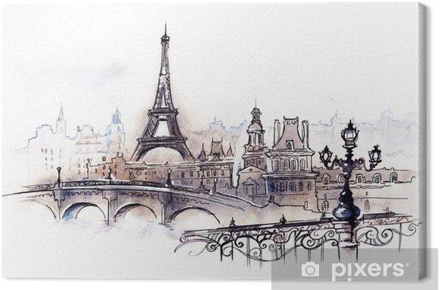 Obraz na płótnie Paryż (seria C) - Style