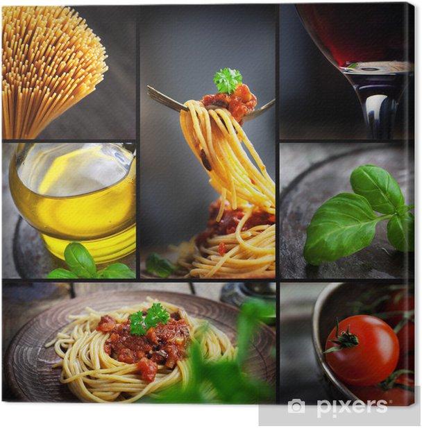 Obraz na płótnie Pasta collage - Posiłki